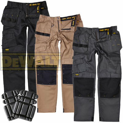 6aebe013c7 DeWalt Pro Tradesman Multi Pocket Industrial Mens Work Trouser + FREE KNEE  PADS