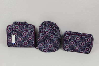 Lot of 3 Vera Bradley Lilac Medallion