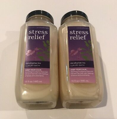 Bath & Body Works Aromatherapy Eucalyptus Tea Stress Relief Luxury Bath X2