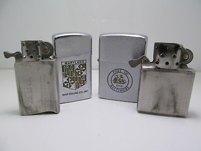 Vintage Zippo Lighter Lot Baltimore Maryland Collection Port Of Baltimore ++NR!