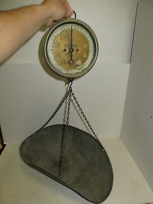 % Vintage Universal Type 33 Series E-1 Hanging Produce Scale 20Lbs %