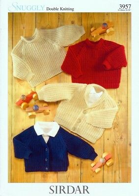29a8667f0665 SIRDAR BABY KNITTING Pattern Cardigans   Sweaters - 3102 - Double ...