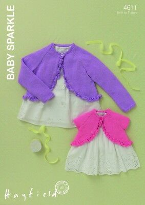 Free UK P/&P Hayfield Baby Cardigans Baby Changes Knitting Pattern 1319 ...