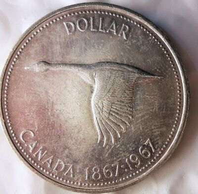 1967 CANADA DOLLAR - Excellent Silver Crown - Low Mintage - Lot #M19