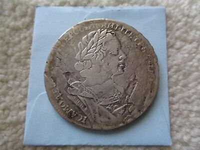 1725 Russia PETER I Rouble silver coin