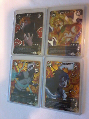 Naruto Collectible Trading Card Game Lot Of 4 Promo Cards Pr083,084,085,086