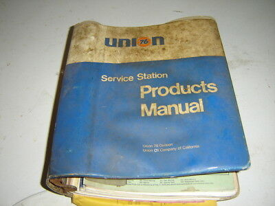 Vintage 1960s 1970s Union 76 Service Station Products Manual Tires Battery Oil