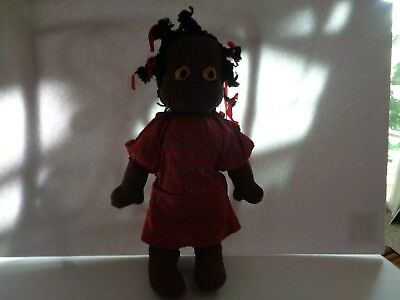 "Black  Rag Doll Pickaninny 18"" Vintage"