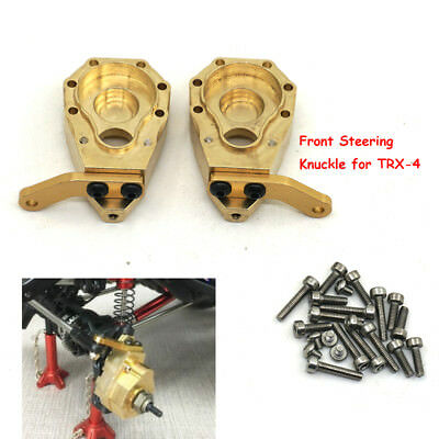 2Pcs Heavy Duty Brass Front Steering Knuckle Upgrade For Crawler Traxxas TRX-4