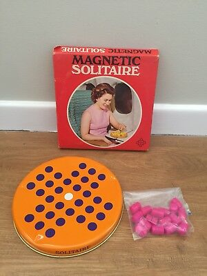 Vintage Magnetic Solitaire Game - 50's / 60's Holdson NZ - Ideal For Travel