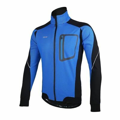Jacket Mens Wind/Water Proof Blue/Black Medium Only Arsuxeo
