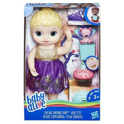 Brand New Hasbro Baby Alive Cupcake Birthday Baby Blonde Hair E0596