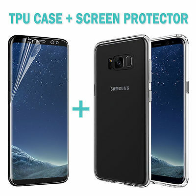 For Samsung Galaxy S8 S9 Plus Case Friendly Full Screen Protector Film+TPU Cover