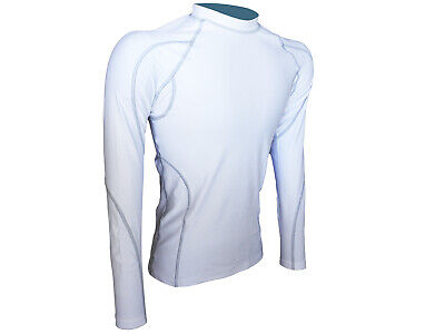 Compression Top Mens White Long Sleeve JM-131 Extra Large Only
