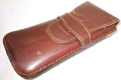 Vintage genuine leather case antique for fountain ballpoint pen Hungary