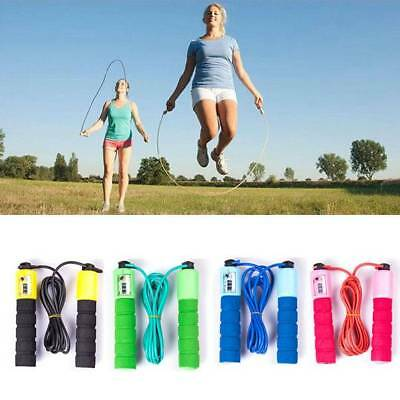 Skipping Rope With Jump Counter Exercise Boxing Gym Workout Fitness Adult Kidㅠ