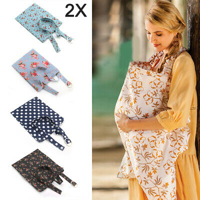 2X Baby Breastfeeding Nursing Cover Maternity Generous Blanket 100% Cotton