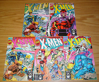 X-Men vol. 2 #1 VF/NM complete set of all 5 variants - jim lee - chris claremont