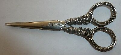 Antique silver handled scissors Sheffied