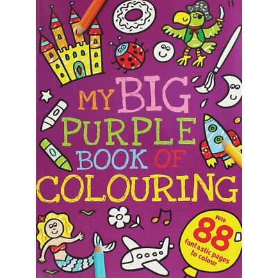 My Big Purple Book Of Colouring (Paperback), Children's Books, Brand New