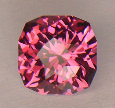 Vvs1 Precision Custom Diamond Cushion Cut Fine Purplish Pink Umbalite Garnet