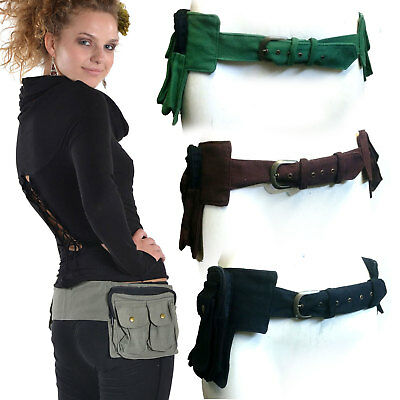 Waist Pocket Belt, Travel Money Bumbag, Hippy Utility Belt, Festival Pocketbelt
