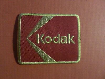 """""""KODAK"""" gold & red Embroidered 2-3/8 x 2-7/8 Iron On Patch"""