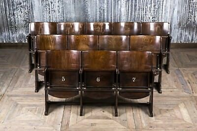 Cinema Seats Wooden Theatre Chairs Up To 5 Seat Vintage Folding Cinema Benches