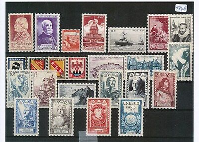 Timbres De France Annee Complete 1946 Neuf Luxe **