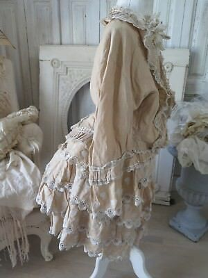 FRENCH 19c Antique Victorian CHILDRENS GOWN  dress EMBROIDERY