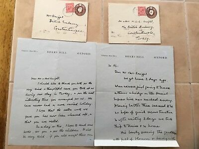 Constance Mancefisld 2 letters to British Embassy Constantinople