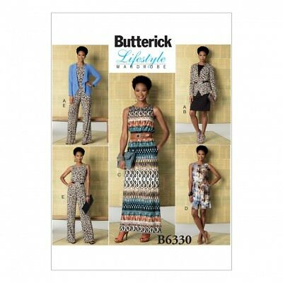 Free UK P/&P Butterick Ladies Easy Sewing Pattern 6350 Sleeveless /& ...