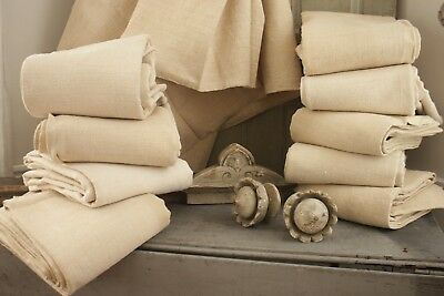 10 MATCHING French linen sheets GLORIOUS Set for upholstery fabric hemp vintage
