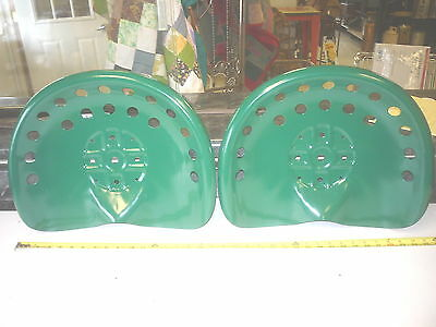 3 New Jd  Green Antique Style Horse  Farm Machine  Tractor Metal Bar Stool  Seat