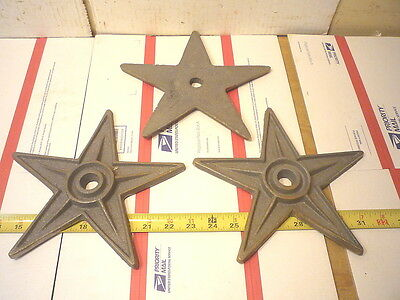 Five  9 ''  Cast Iron Texas Stars  Americana  Star  Old  Building  Style  Craft
