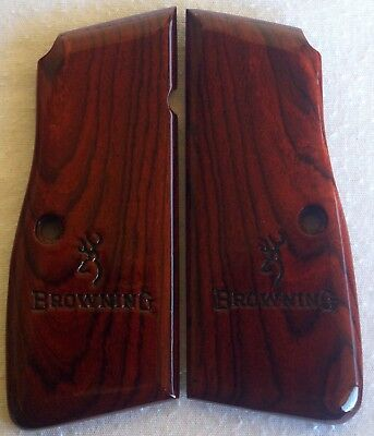 BROWNING-HIGH-POWER-GRIPS-COCOBOLO- ROSEWOOD A-44 l@@k