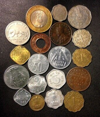 OLD India Coin Lot - 1920-Present - 19 COLLECTIBLE Vintage Coins - Lot #M20