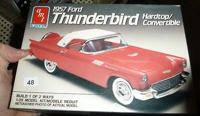 AMT 6516 1957 Ford Thunderbird Convertible 2n1 1/25 Model Car Mountain COMPLETE