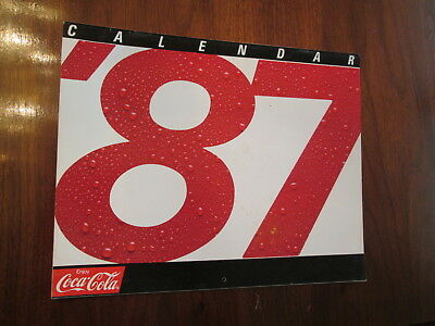 1987 Coca~Cola Wall Calendar - Were You Born In This Year 1987 ??