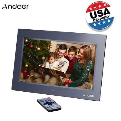 US 10'' HD LED Digital Photo Frame Picture Album Clock MP3/4 Movie Player O1M7