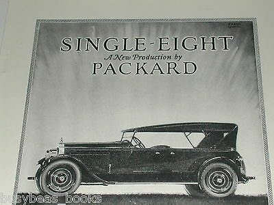 1923 Packard Motor Car Company advertisement, Single Eight
