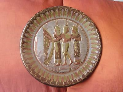 Unique Solid Handmade Copper/Brass Wall Plate/Plaque of Ancient Royal Musicians
