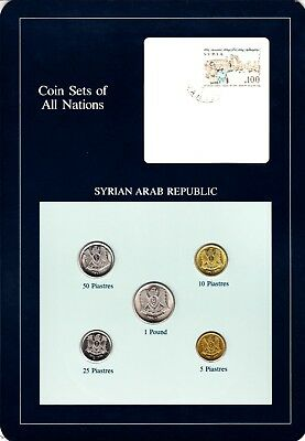 Syria Coin Sets of All Nations 5 BU Coins 5 Piastres - 1 Pound 1979