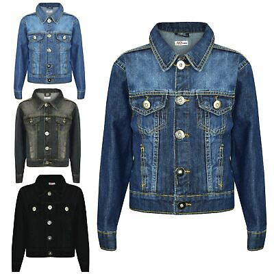 Kids Boys Jacket Designer Denim Style Fashion Trendy Jeans Coat New Age 3-13 Yr