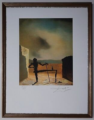 Salvador Dali 'As a table suited to Ghost' Signed Lithograph Lim. 2000 pcs.