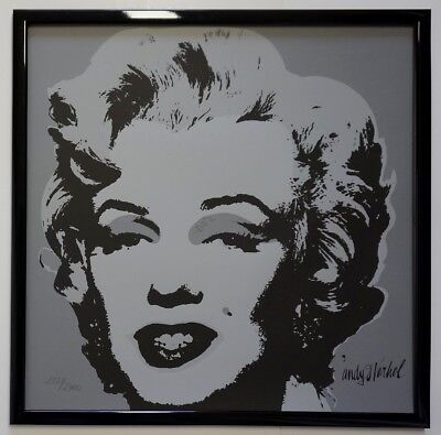 J - Andy Warhol Marilyn Monroe Signed Lithograph - Limited 1379 of 2400 pcs.