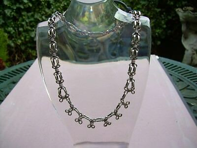 Antique Victorian Heavy Silver Collar.