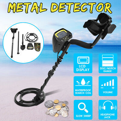Metal Detector GC1032 Waterproof Underground Coin Search Digger Folding Shovel
