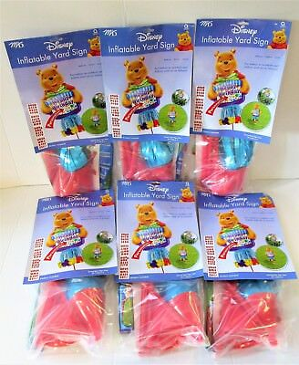 Pack of 6 Disney Winnie The Pooh Inflatable Castle Yard Sign - Party Balloons