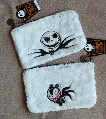 Disney Nightmare Before Christmas Embroidery Jack Wallet Purse Storage Multiuse